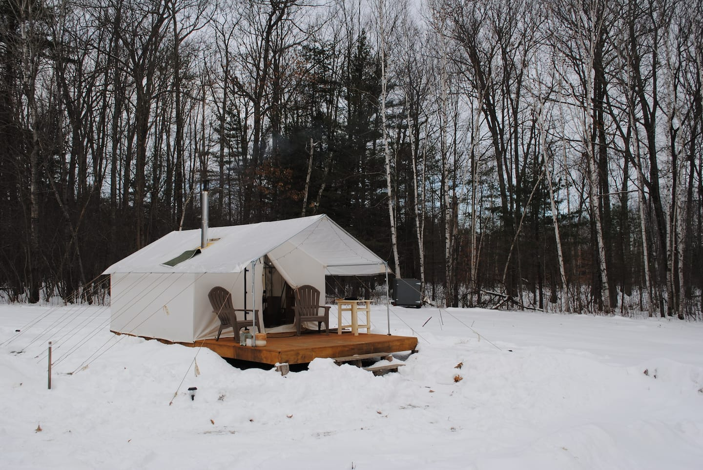 Scenic Rural Camp Site -New Glampshire winter