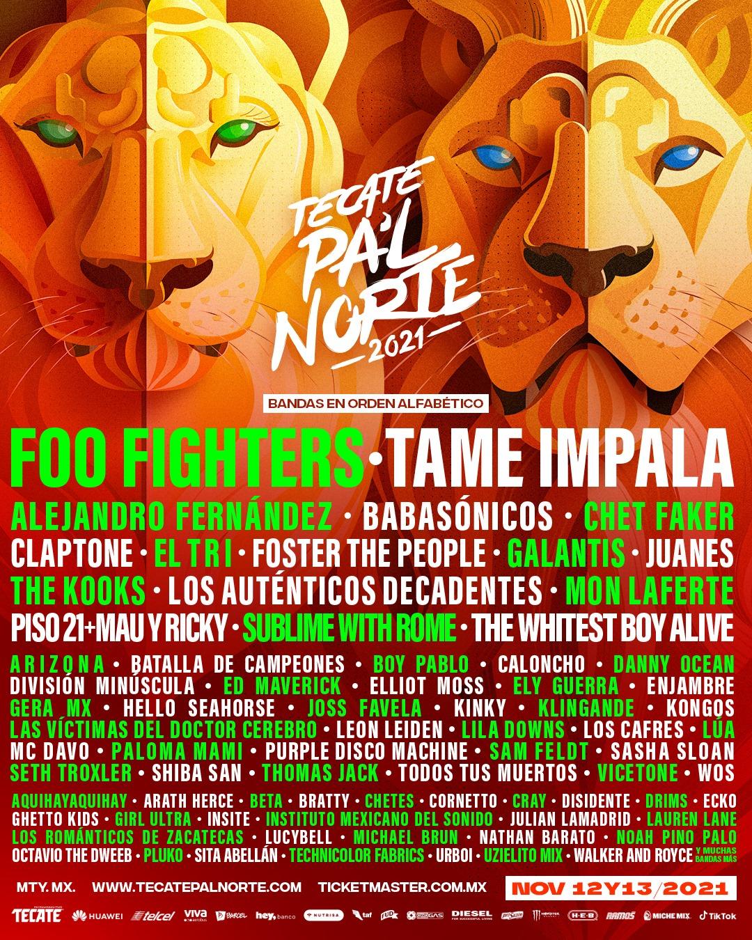 Tecate Pa'l Norte Mexico Music Festival 2021