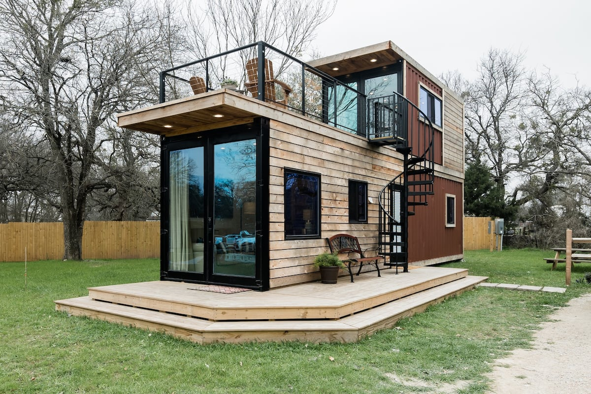 The Helm—2-Story Container Airbnb in Texas