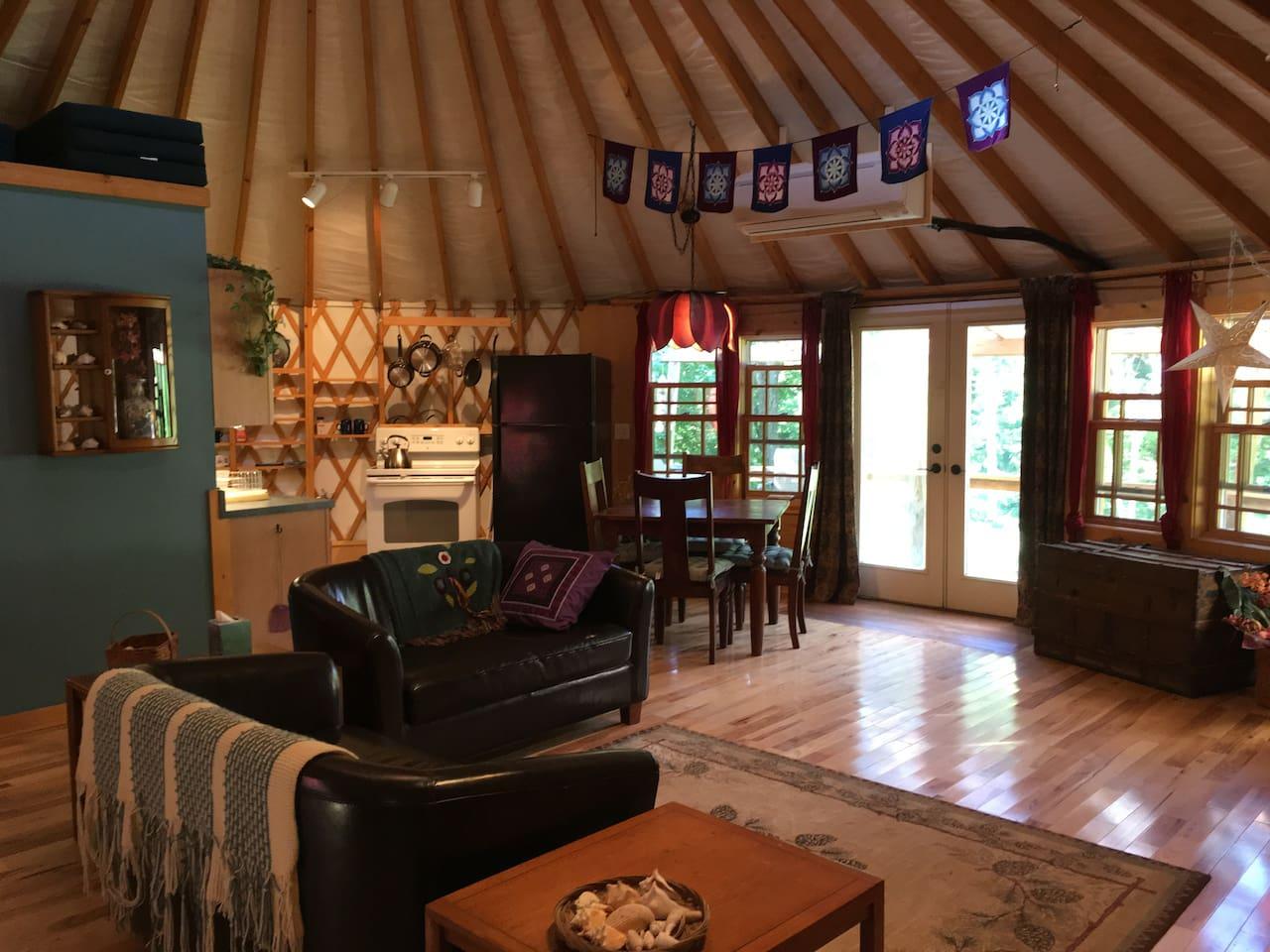 Yurt Glamping near Asheville NC