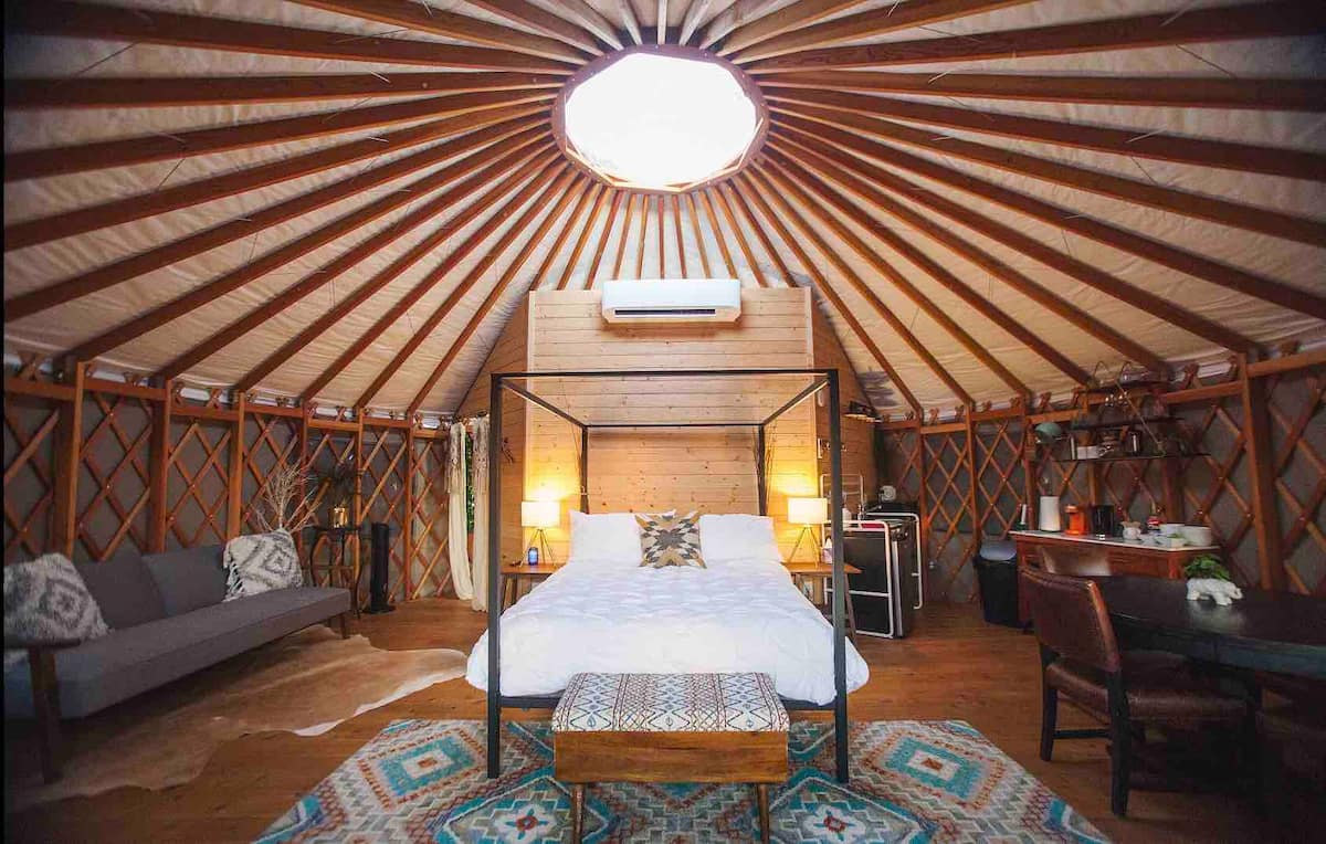 Yurt In The Trees - Coolest Airbnbs in Texas
