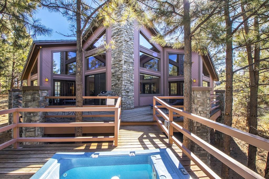 flagstaff arizona timberloft luxury vacation rental groups families