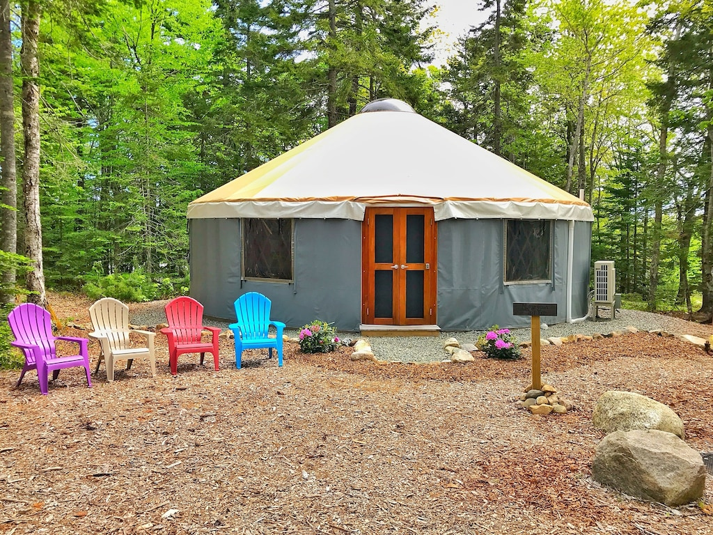glamping on the quiet site of acadia national part new england
