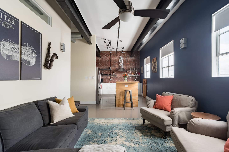 hidden speakeasy style penthouse airbnb savannah ga