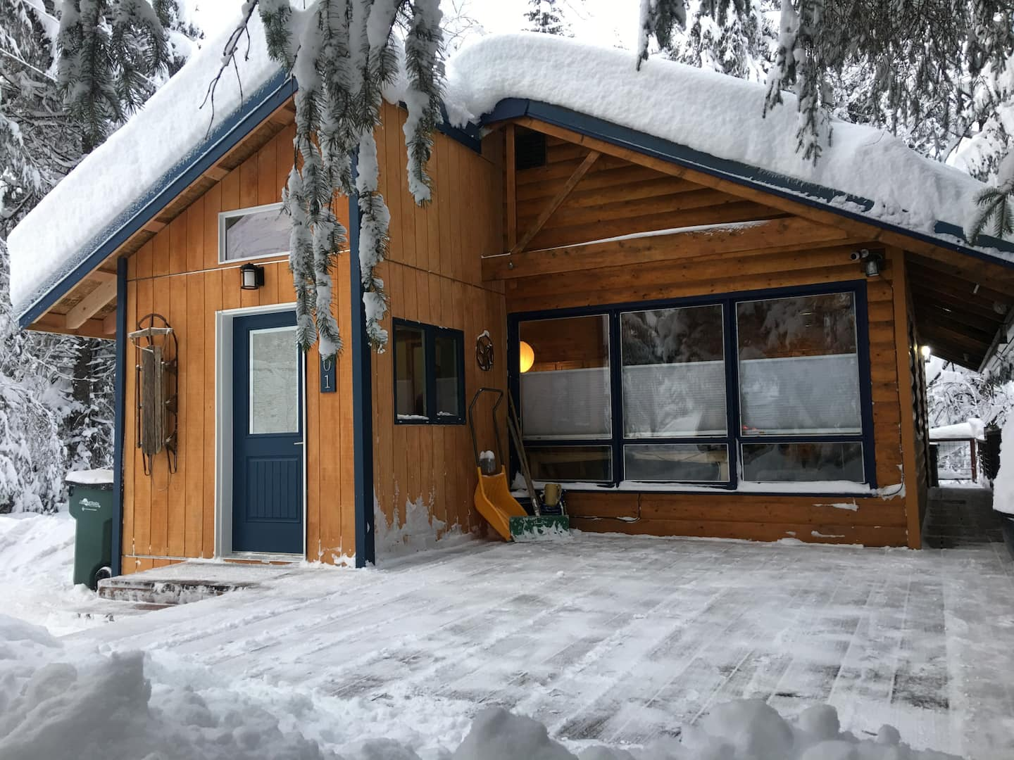 Alaska Cabin Airbnb With Hot Tub Winter