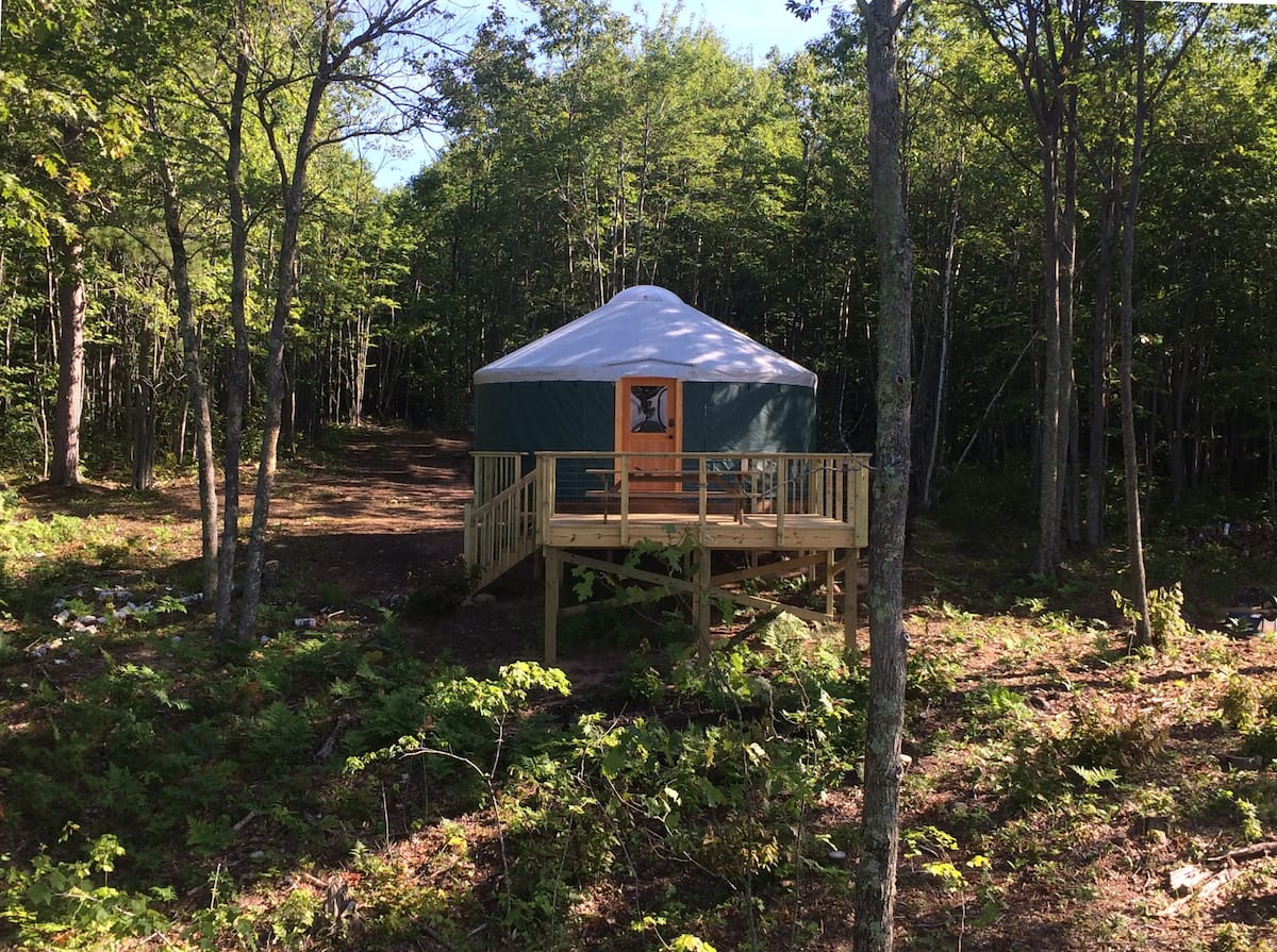 Bayfield Rustic Yurt Wisconsin