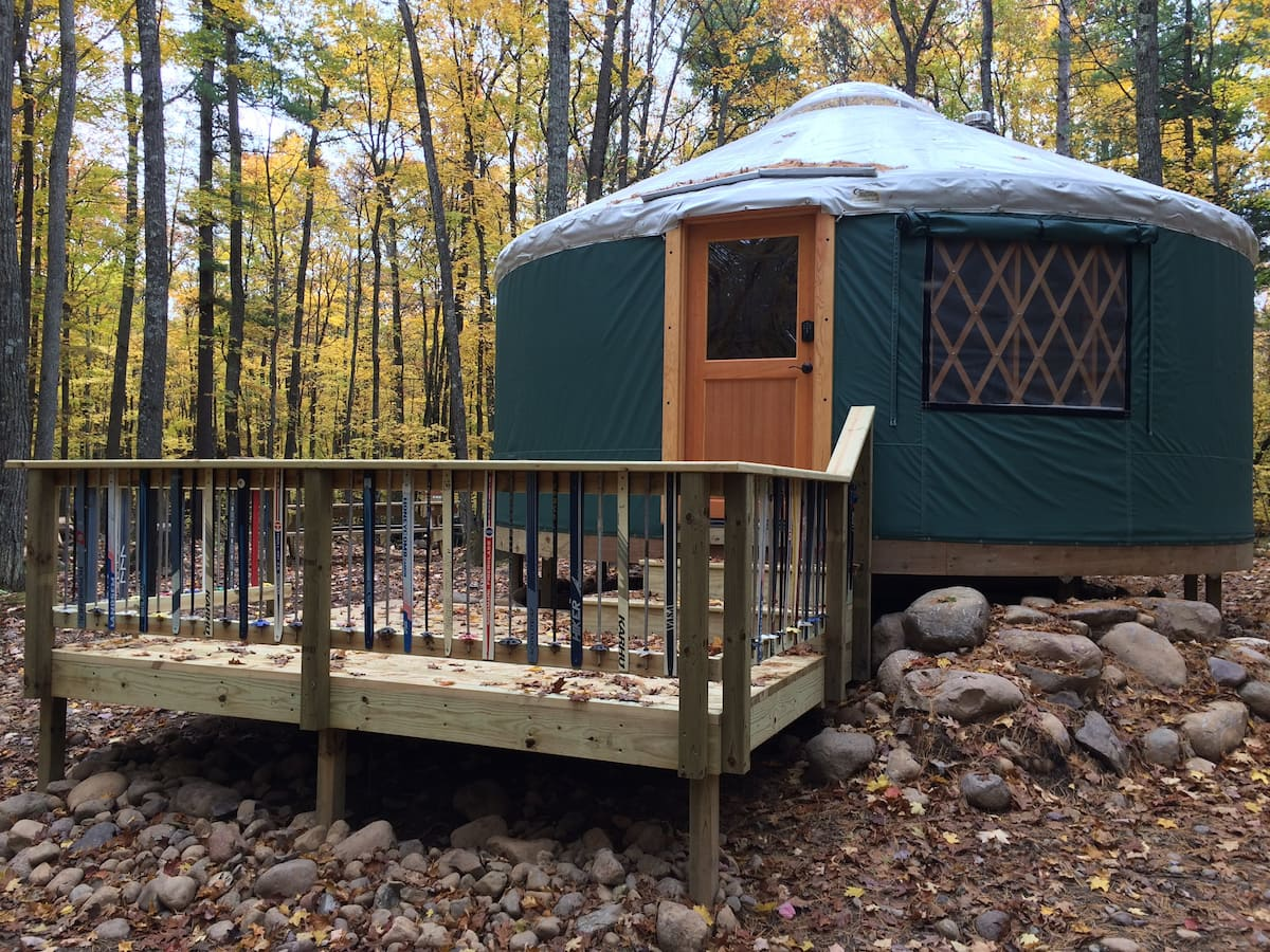 Cable Rustic Yurt Glamping in Wisconsin
