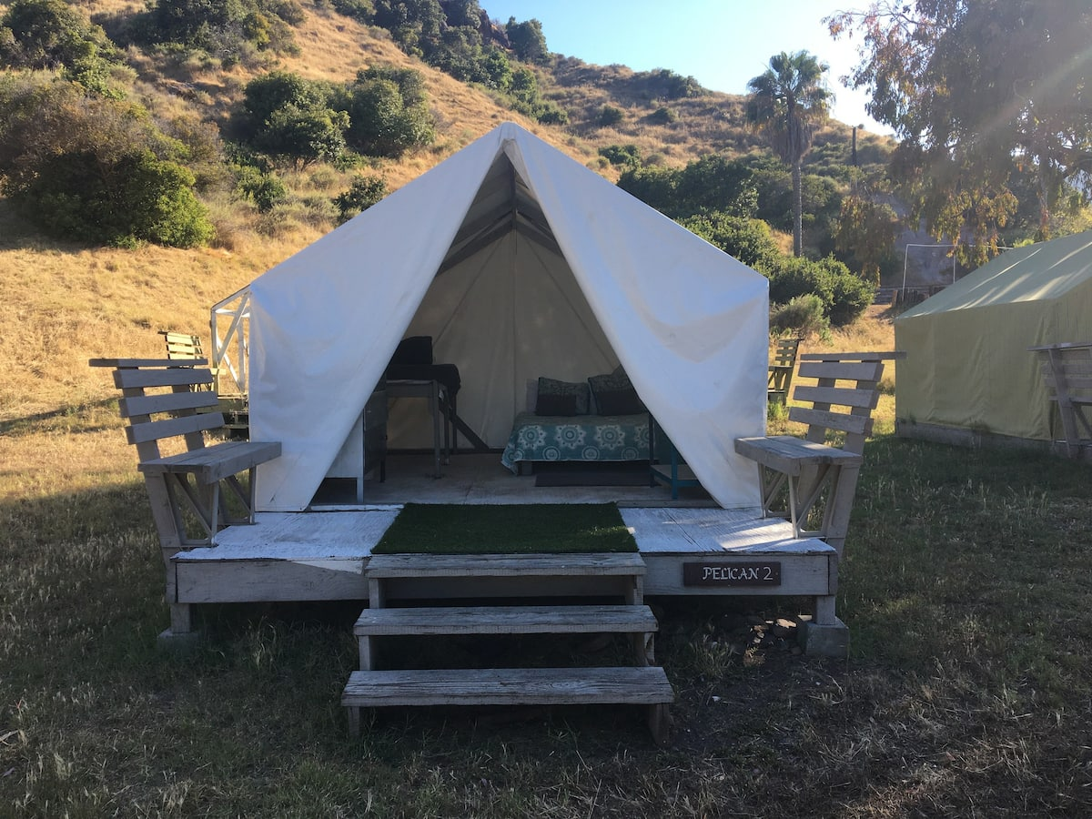 Glamping Tent Catalina Island Airbnb