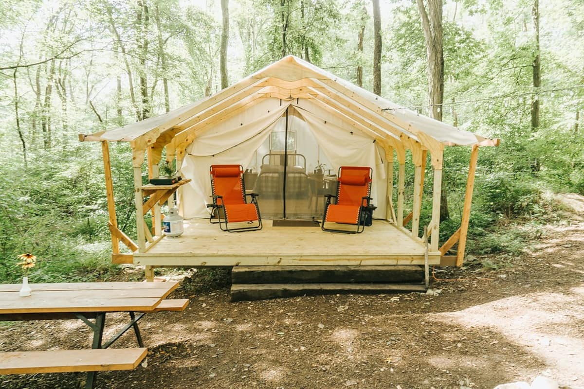 Glamping at Airydale Pennsylvania
