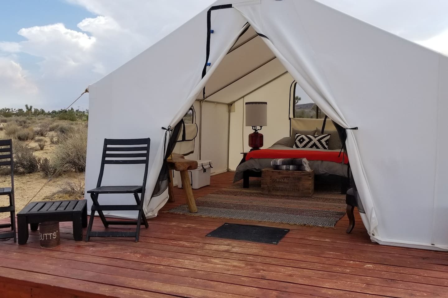 Joshua Tree Glamping Tent at Lazy Sky