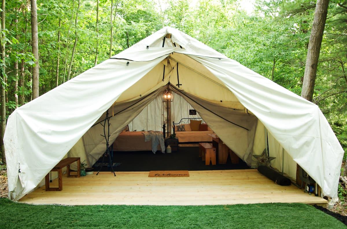 Quaint and Quiet Glamping Tent