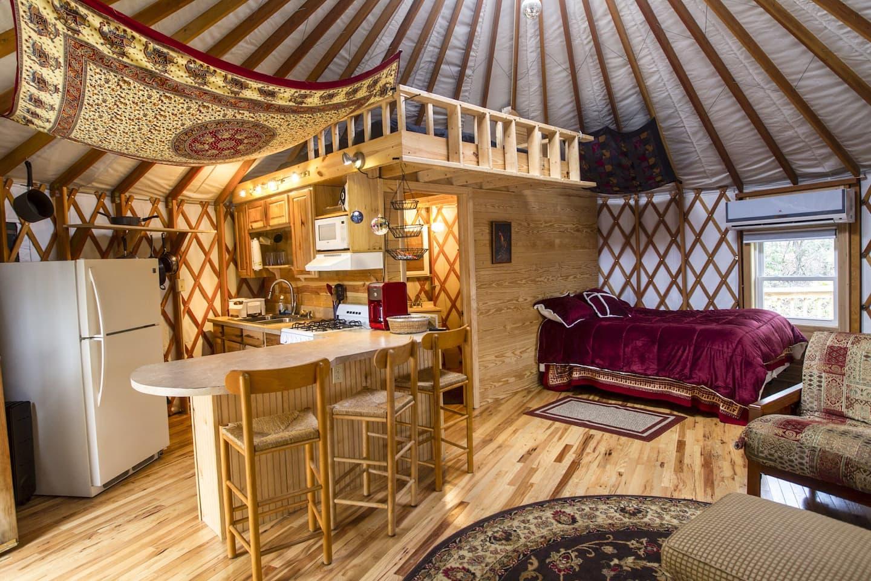Serenity Yurt Glamping North Carolina