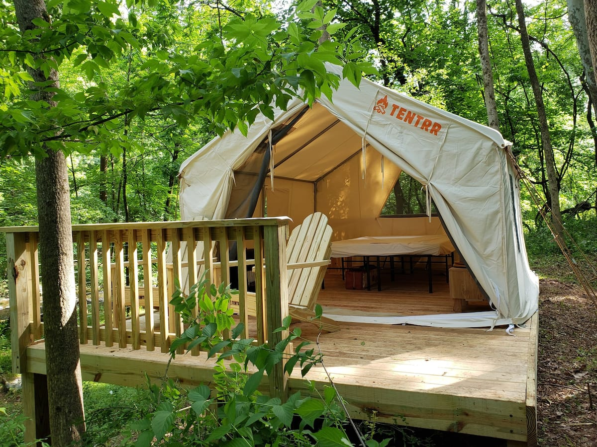 Tentrr Signature Site - Jacobs Creek Riverside Paradise Glamping
