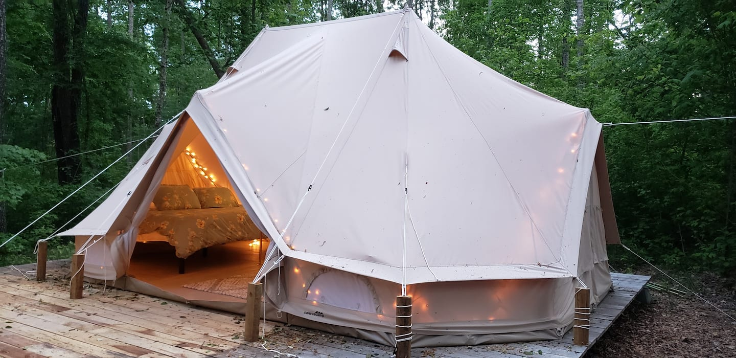 The Double Bell Yurt Glamping in Tennessee