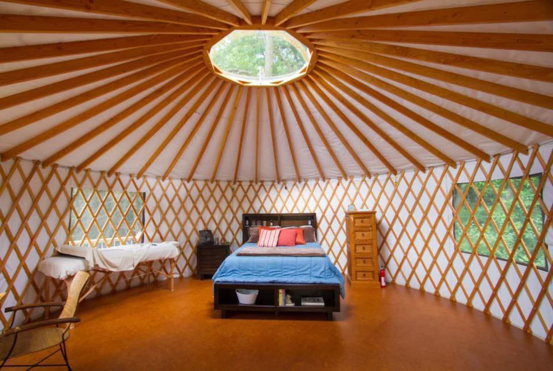 Yurt Cabin Glamping Wisconsin