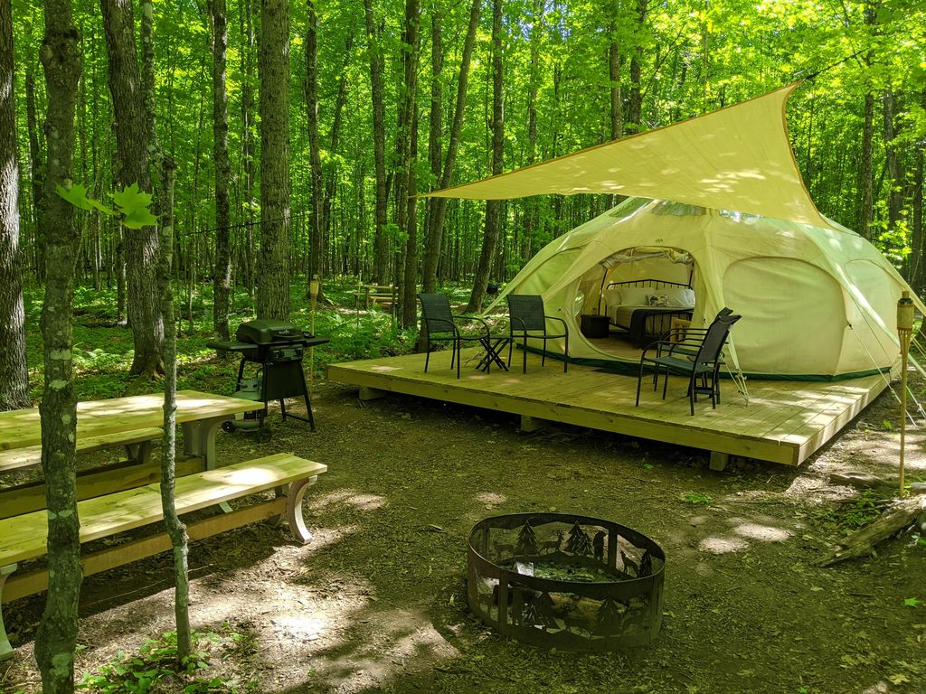 wisconsin luxury tent glamping