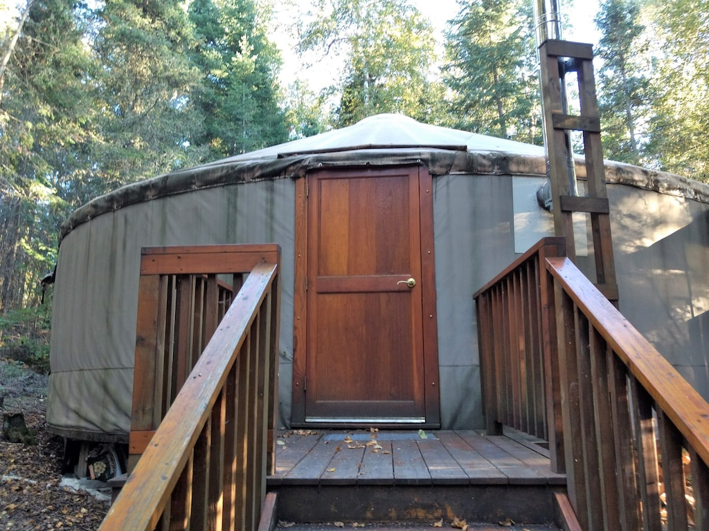wisconsin yurt lake luxury glamping ely
