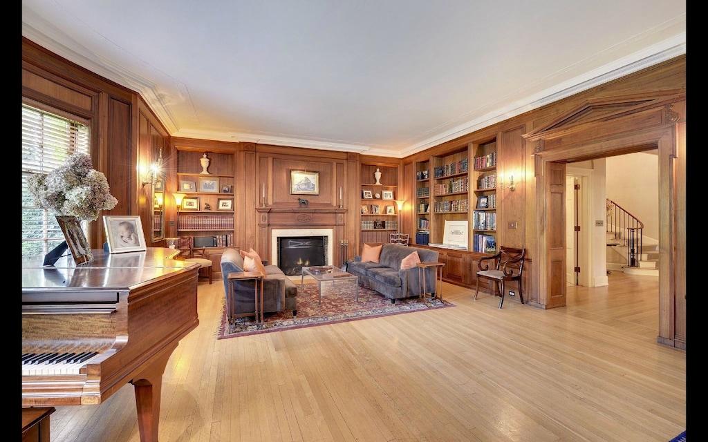 minneapolis minnesota luxury georgian mansion living room