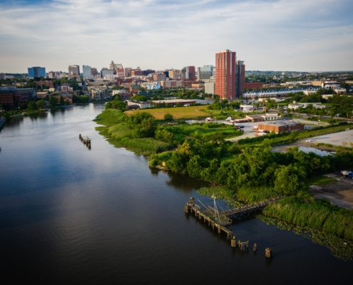 Aerial of Wilmington Delaware