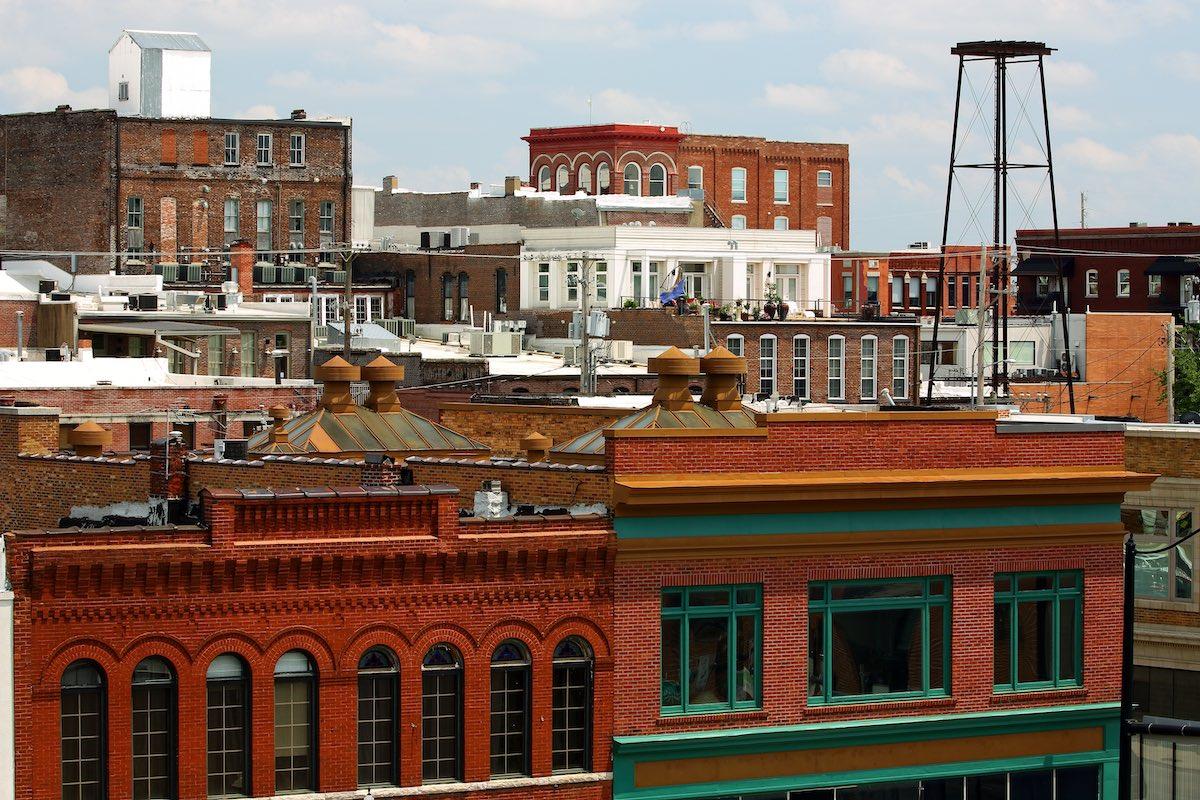 skyline of downtown Springfield Missouri