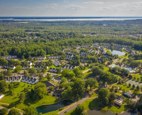 Aerial of Williamsburg Virginia