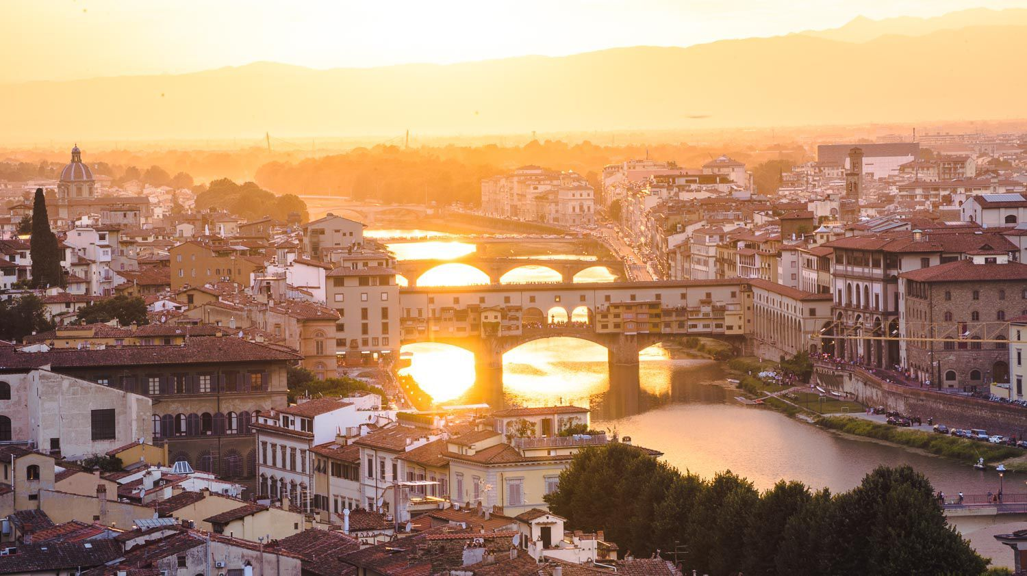 sunset in florence piazzale michelangelo