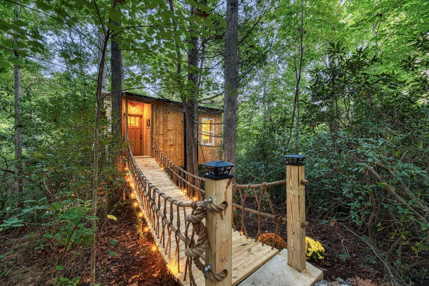 Luxurious Secluded Romantic Treehouse with Hot Tub