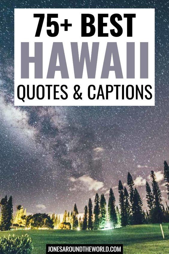 75 Hawaii Quotes Instagram Captions