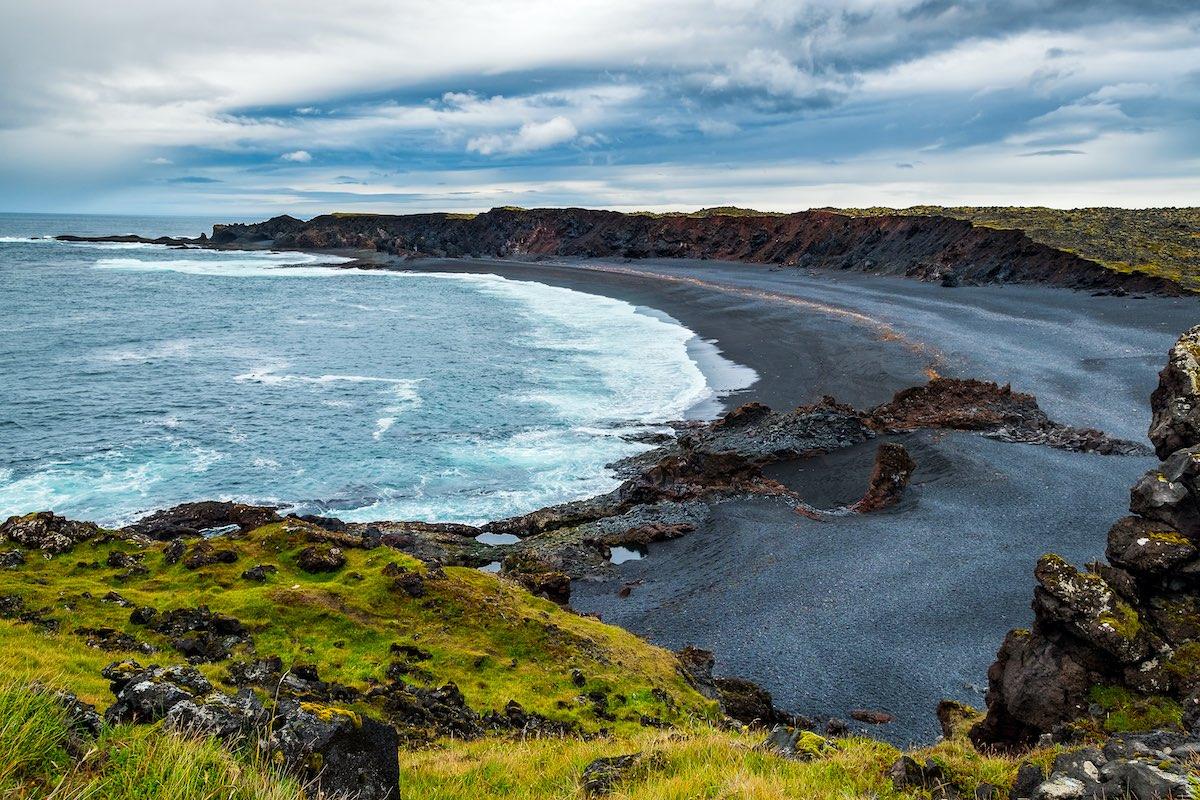 Djupalonssandur black beach Iceland