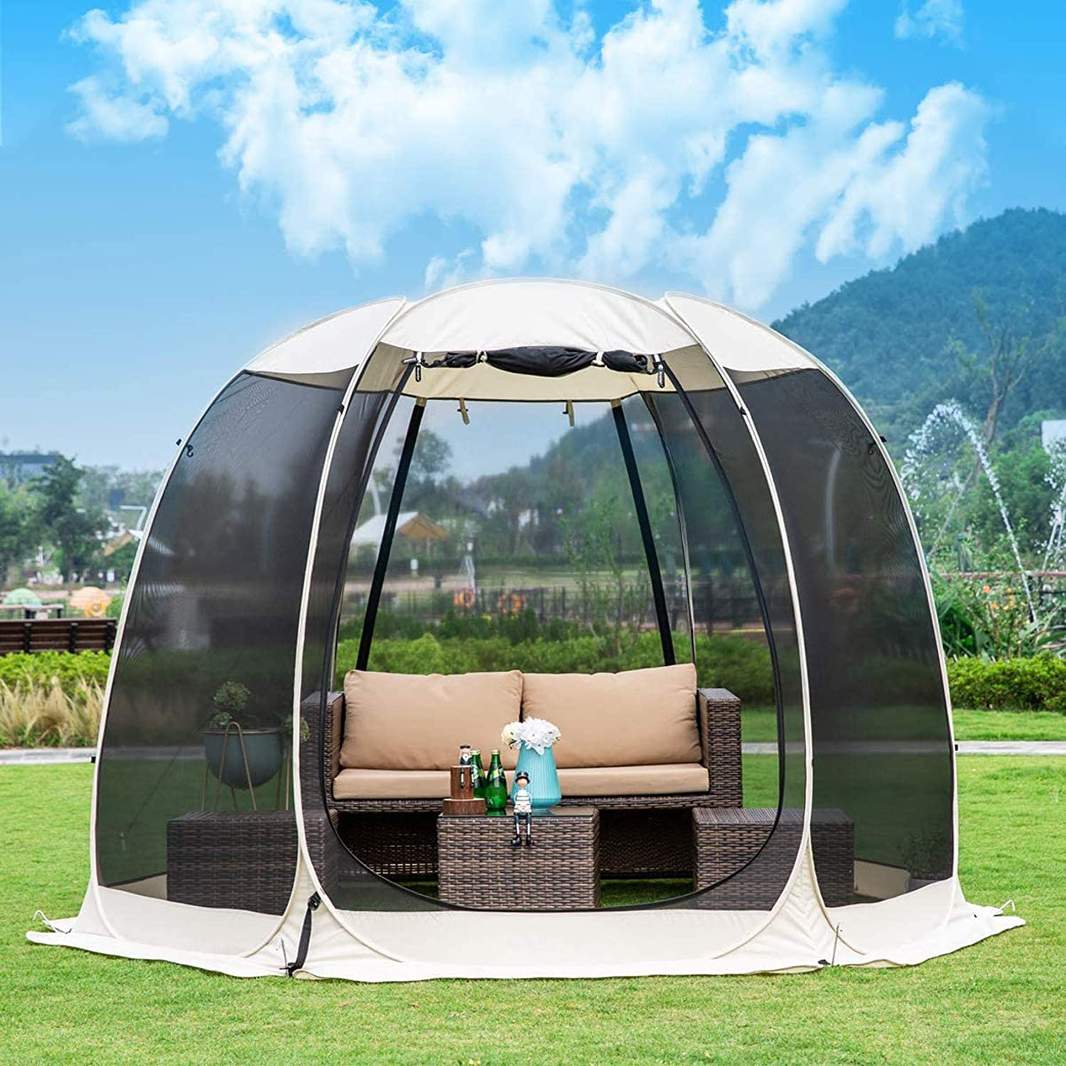 Gazebos for Patios Screen House Canopy Mosquito Net Camping Tent Dining Pop Up Sun Shade Shelter
