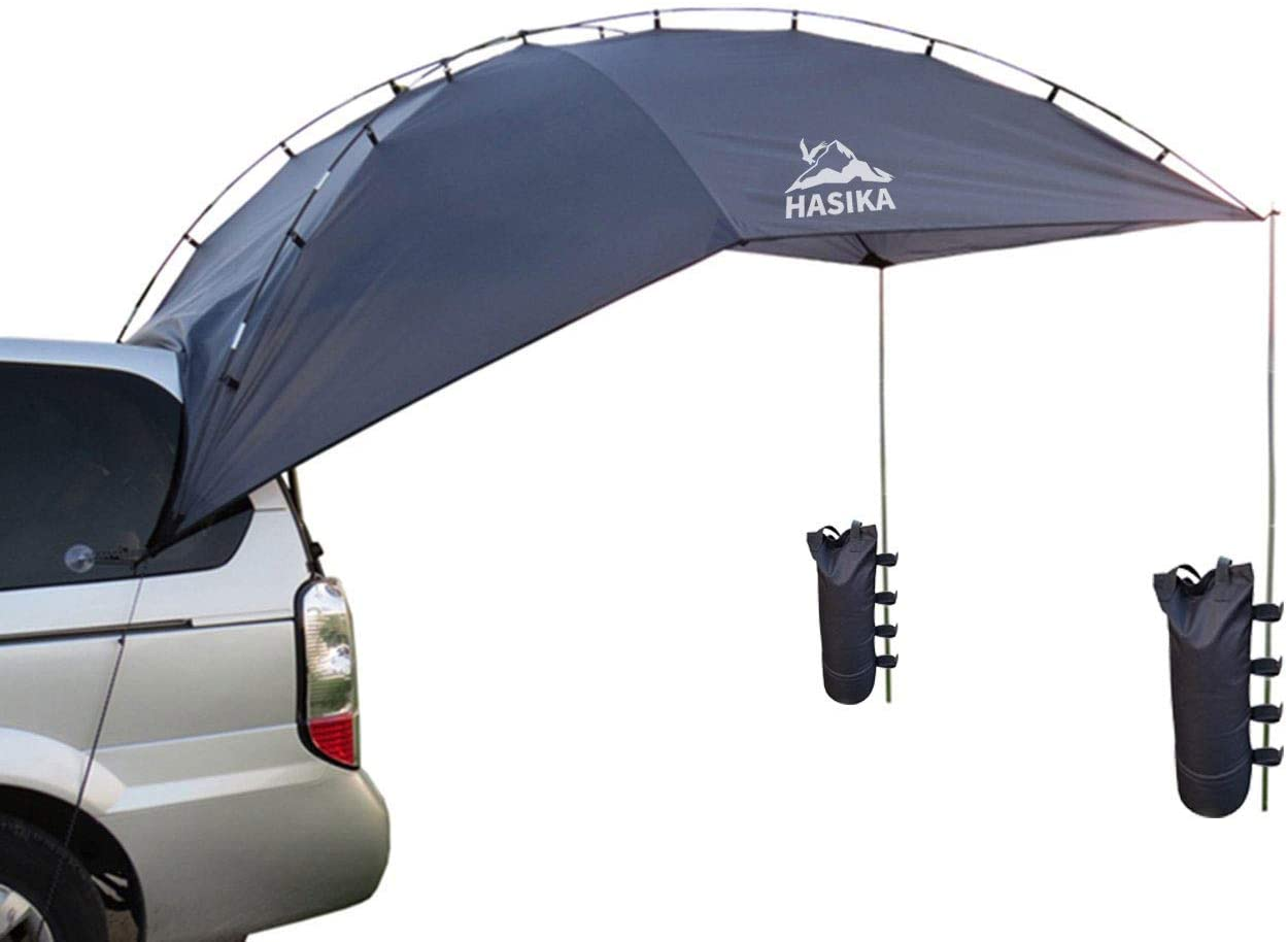 Versatility Teardrop Awning for SUV RVing, Car Camping, Trailer and Overlanding Light Weight Truck Canopy