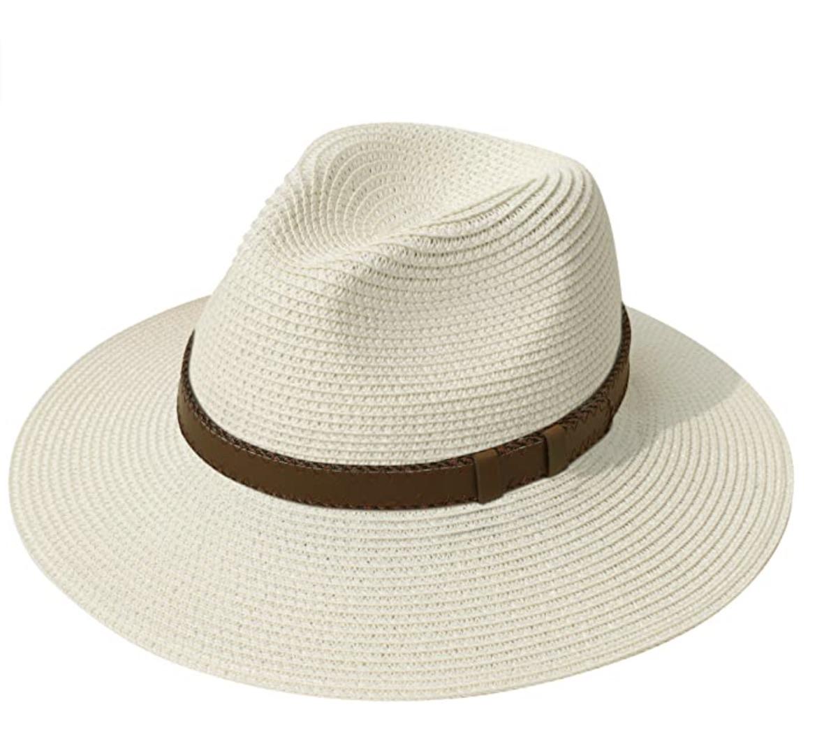 Wide Brim Straw Panama Roll up Hat Fedora Beach Sun Hat