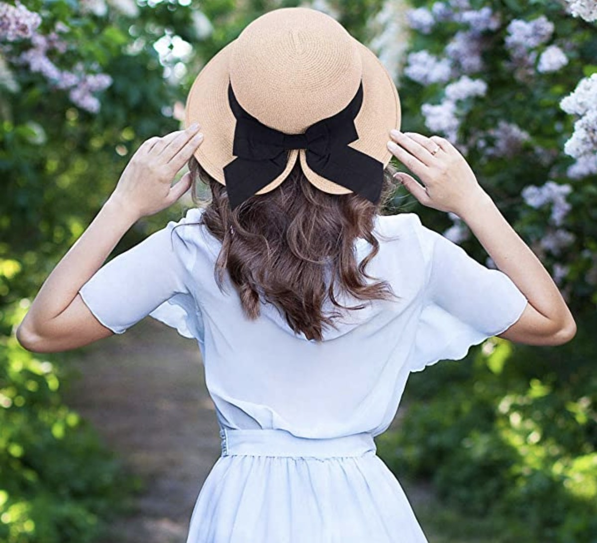 Women's Lightweight Foldable:Packable Beach Sun Hat with Fashionable Bow