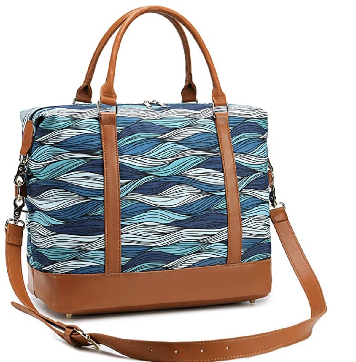 CAMTOP Travel Beach Tote Womens Beach Bag Canvas