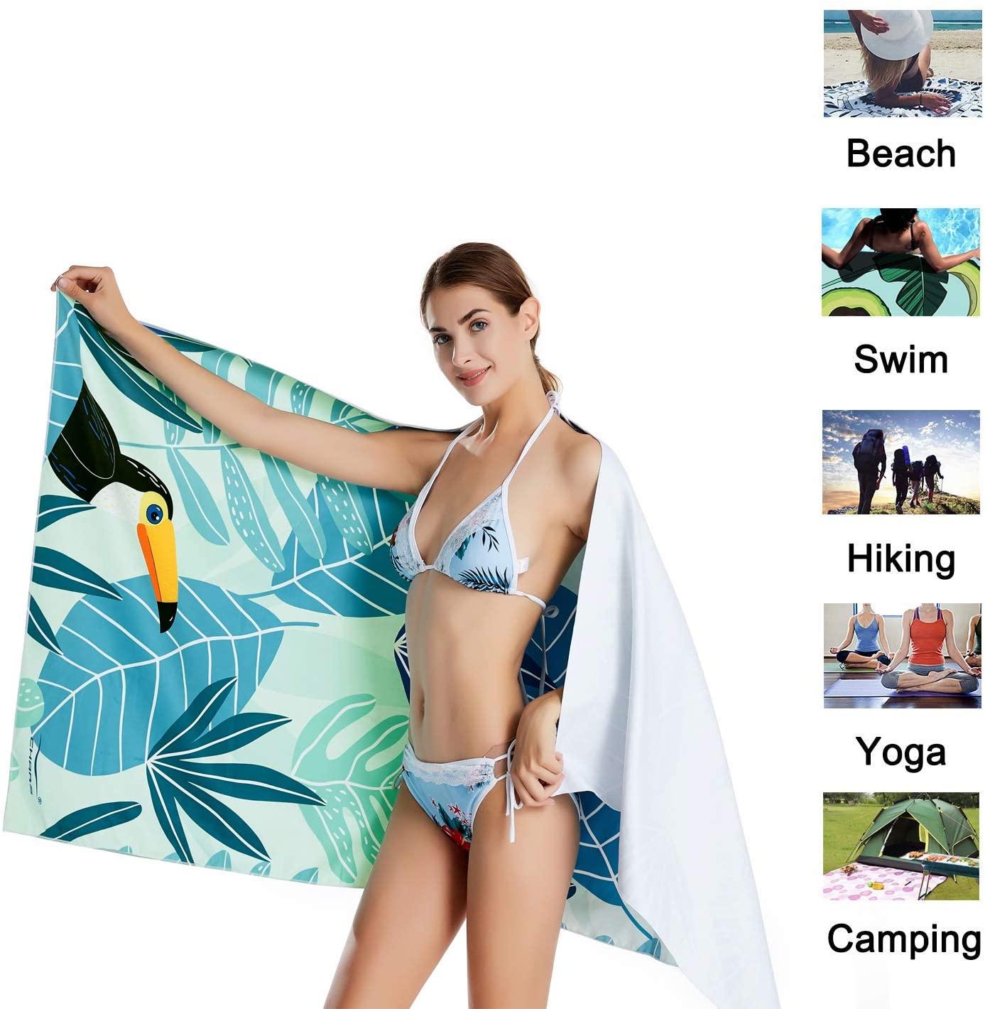 CHARS Microfiber Quick Drying Beach Towel