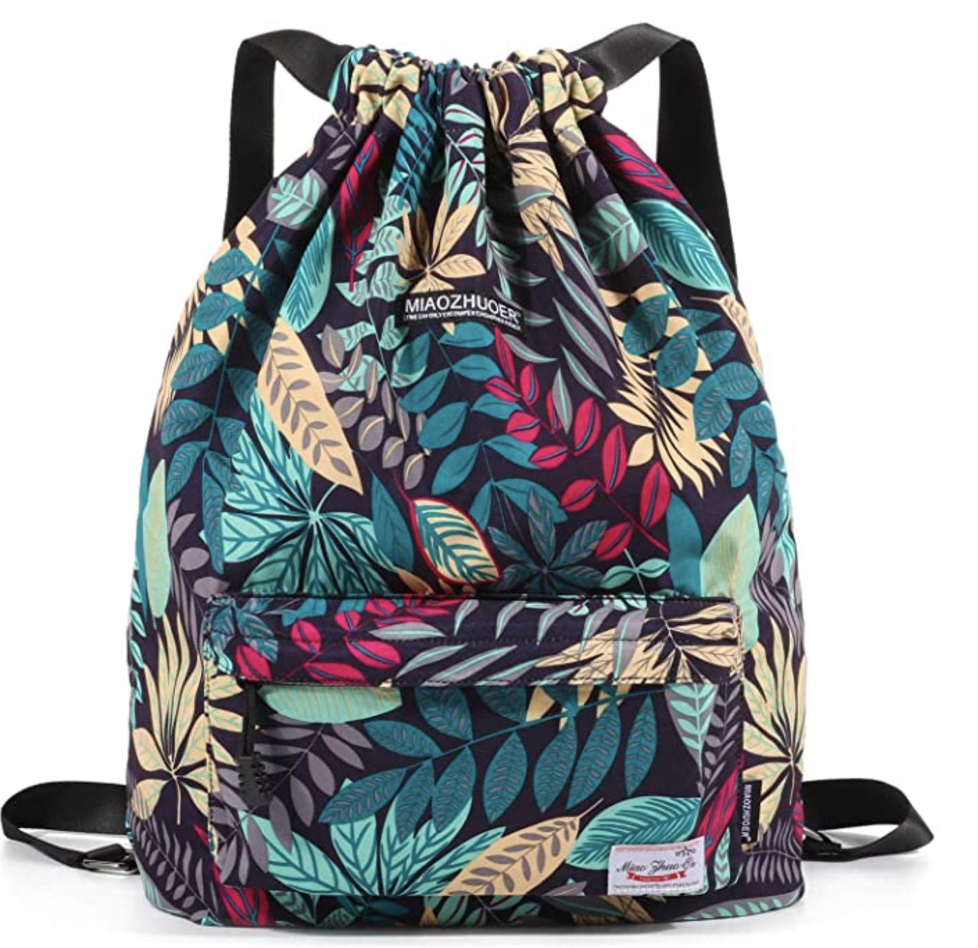 Drawstring Beach Backpack
