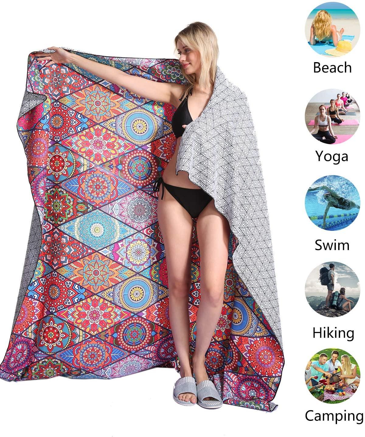 Genovega Mandala Microfiber Beach Towel Blanket