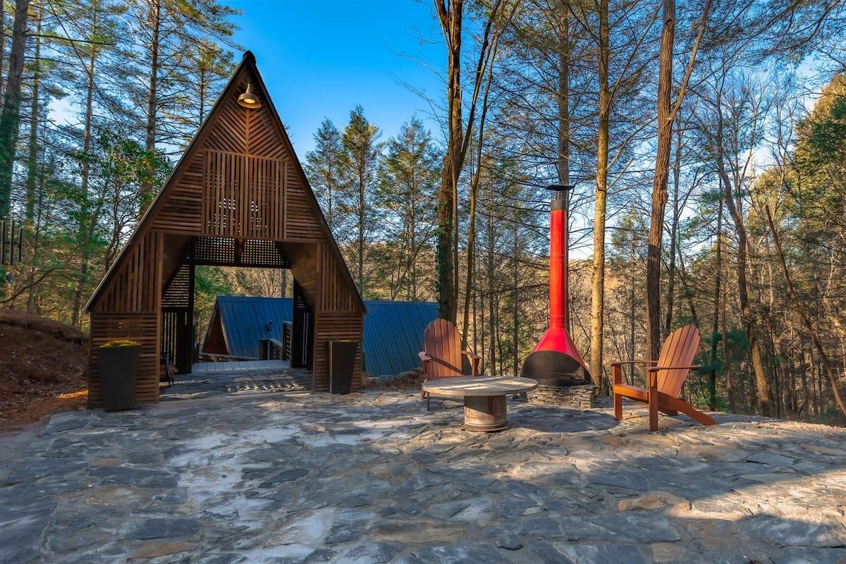 A-Frame Luxury Cabin Airbnb Georgia