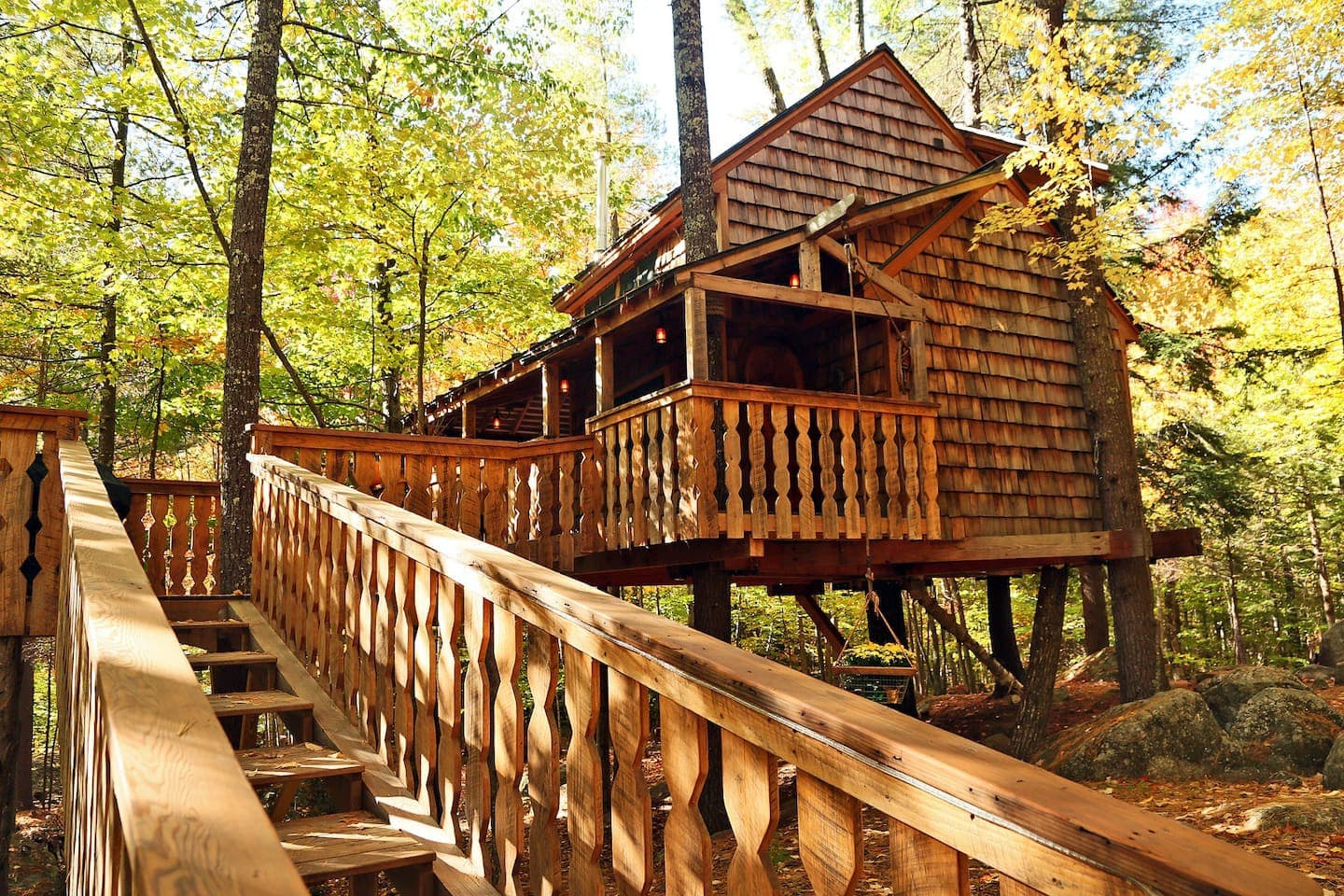 Luxury Treehouse Glamping in New England