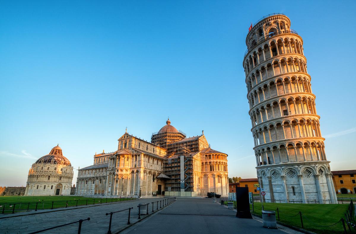 Leaning Tower of Pisa in Pisa - Italy