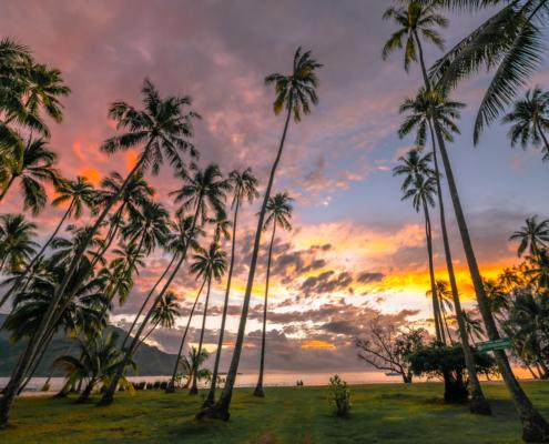 Sunset at the Public Beach Ta'ahiamanu Moorea