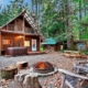 Secluded Cabins in Washington State close to mount rainier hiking skiing with hot tub and fire pit