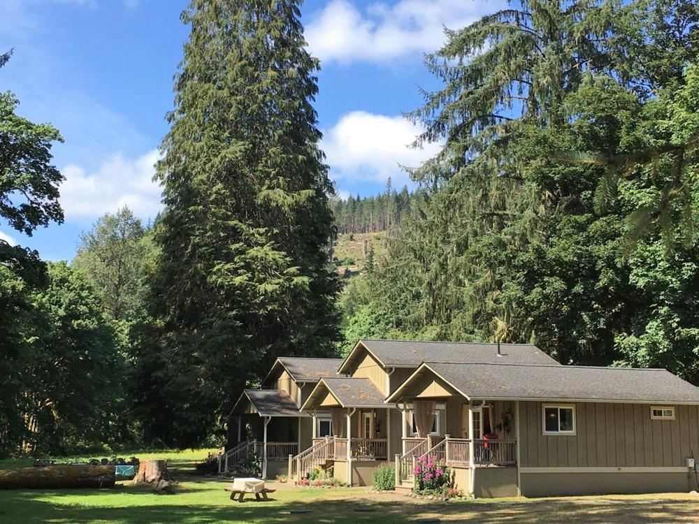 Secluded Cabins in Washington State river view near beaver creek