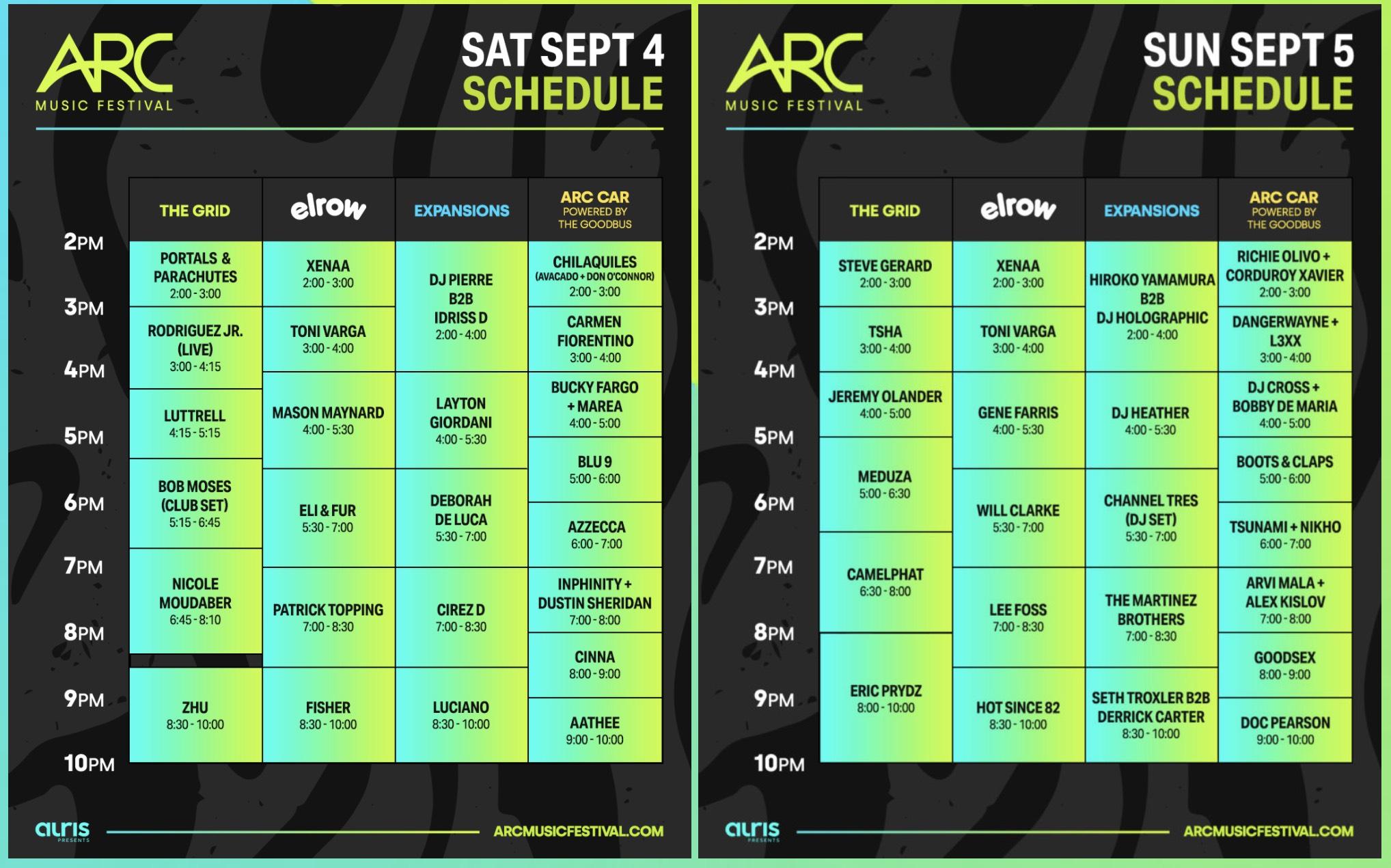 Arc Music Festival Chicago 2021 Line-Up