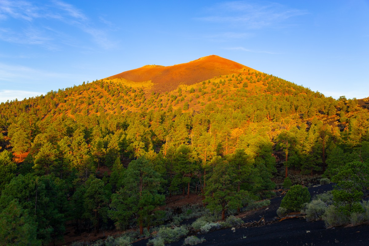 Sunset Crater Volcano National Monument in Arizona, USA