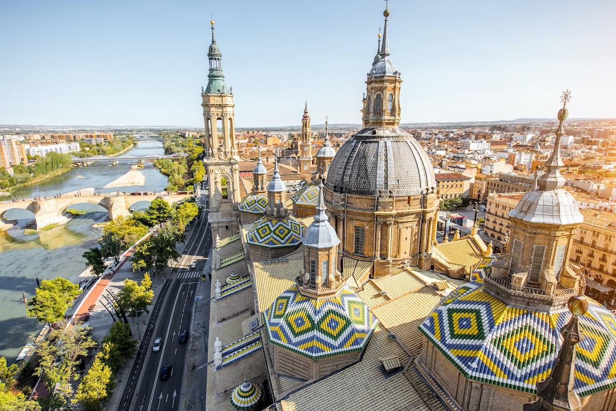 Zaragoza city in Spain