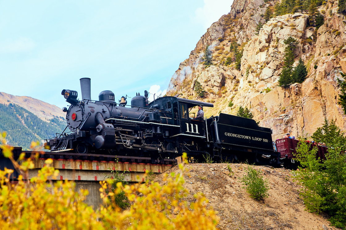 Train in Georgetown, Colorado mountains
