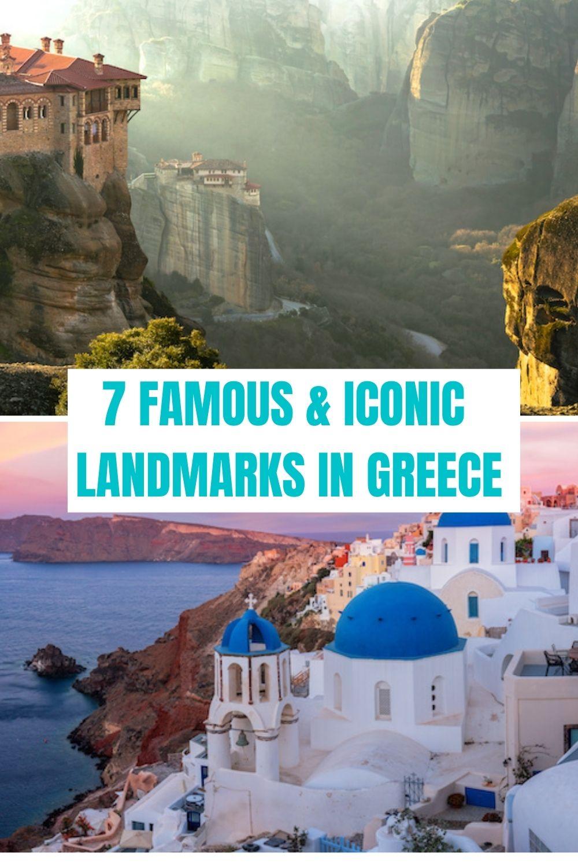 Famous Landmarks in Greece Pinterest