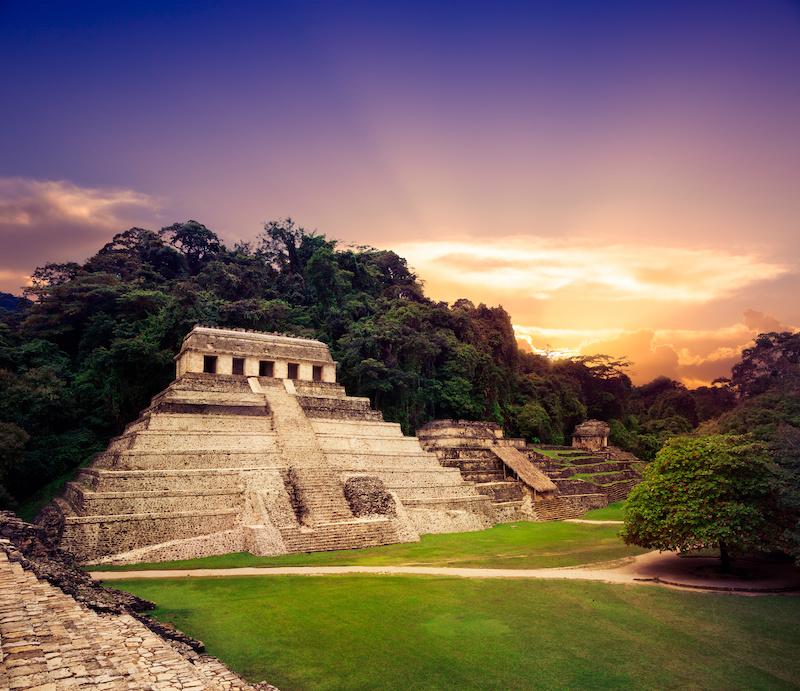 Ruins of Palenque, Maya city in Chiapas, Mexico