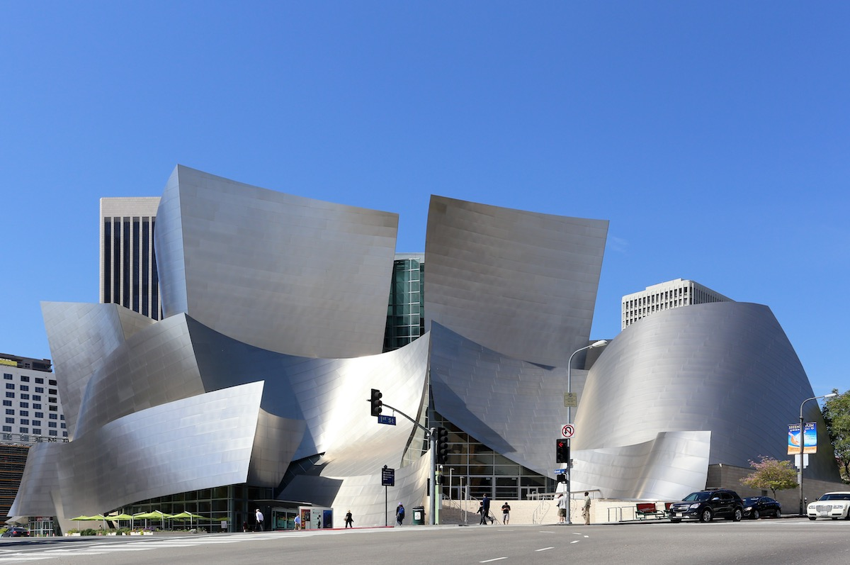 Los Angeles, California, USA - March 17, 2014: The Walt Disney Concert Hall located in Los Angeles, California on March 17, 2014. The concert hall is part of the Los Angeles Music Center.